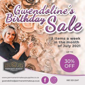 Gwendoline's Birthday Sale